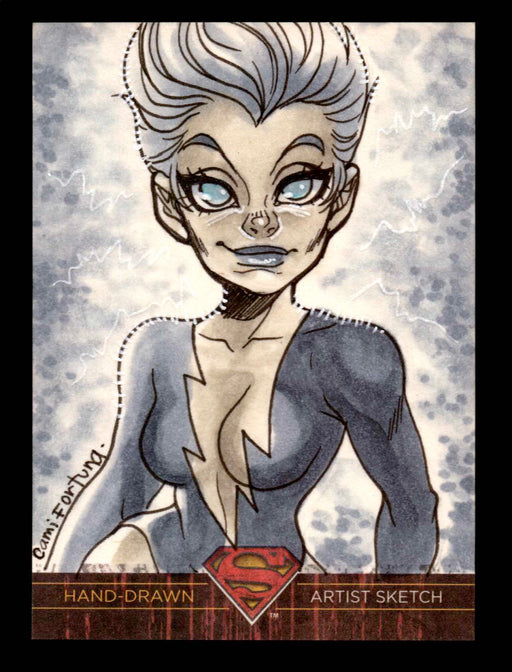 Superman: The Legend 2013 Cryptozoic DC Comics Sketch Card Camila Fortuna   - TvMovieCards.com