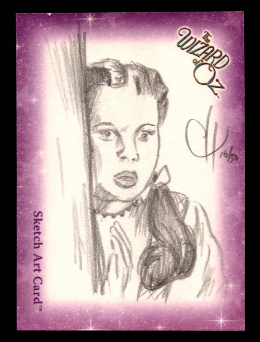 "Wizard of Oz Sketch Card by Chris Henderson ""Dorothy"" Breygent 2006   - TvMovieCards.com"
