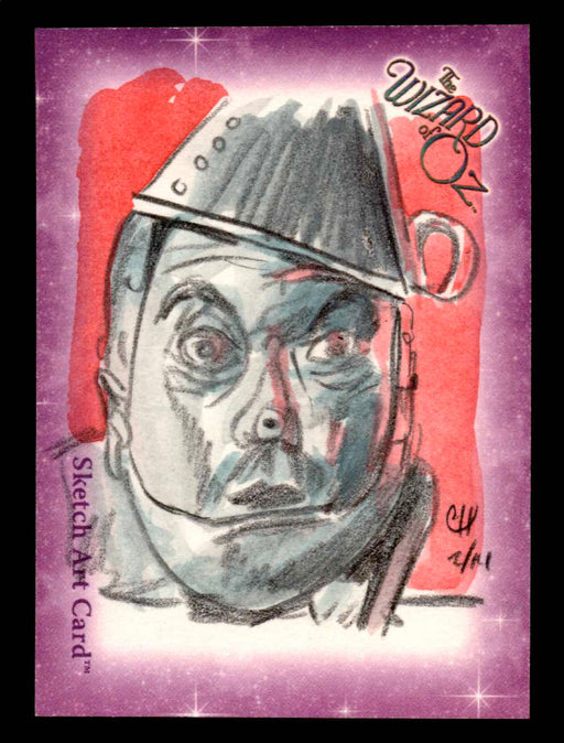 "Wizard of Oz Sketch Card by Chris Henderson Color ""Tin Man"" Breygent 2006   - TvMovieCards.com"