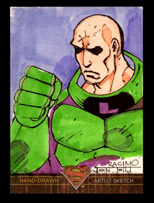 Superman: The Legend 2013 Cryptozoic DC Comics Sketch Card Jon Racimo   - TvMovieCards.com
