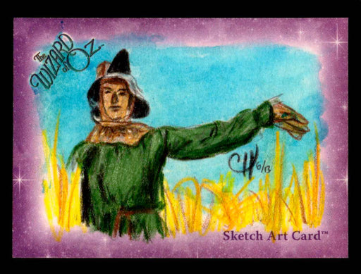 "Wizard of Oz Sketch Card by Chris Henderson Color ""Scarecrow"" Breygent 2006   - TvMovieCards.com"