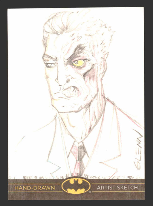 DC Comics Batman: The Legend 2013 Cryptozoic Sketch Card by Chris Glenn   - TvMovieCards.com