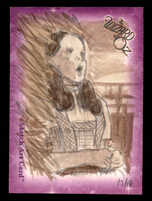 "Wizard of Oz Sketch Card by Chris Henderson Color ""Dorothy"" Breygent 2006   - TvMovieCards.com"