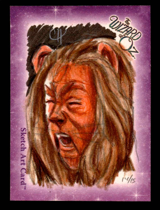 "Wizard of Oz Sketch Card by Chris Henderson Color ""Cowardly Lion"" Breygent 2006   - TvMovieCards.com"