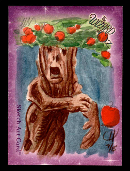 "Wizard of Oz Sketch Card by Chris Henderson Color ""Fighting Tree"" Breygent 2006   - TvMovieCards.com"