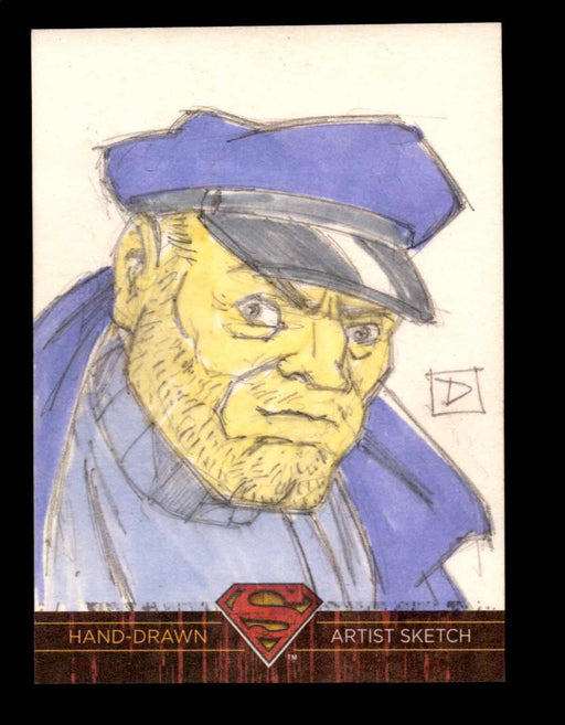 "Superman: The Legend 2013 Cryptozoic DC Comics Sketch Card by David Rabbitte ""D""   - TvMovieCards.com"