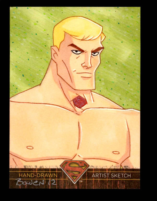 Superman: The Legend 2013 Cryptozoic DC Comics Sketch Card by Bowen   - TvMovieCards.com