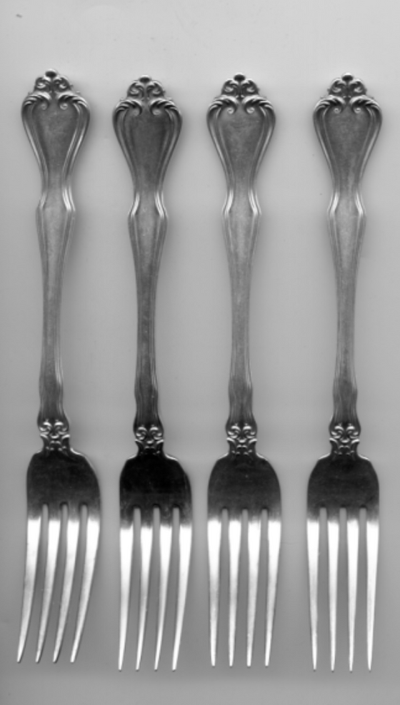 4 George and Martha Forks by Westmorland Sterling Silver 7-1/8 Inch