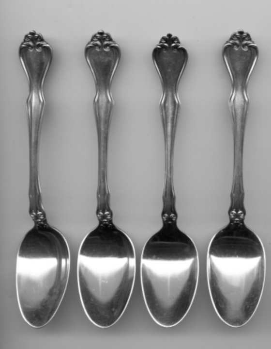 4 George and Martha Teaspoon by Westmorland Sterling Silver 6 Inch