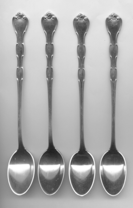 4 Rondo Iced Tea Spoon by Gorham Sterling Silver 7-1/2 Inch   - TvMovieCards.com