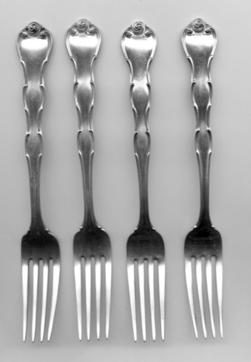 4 Rondo Fork by Gorham Sterling Silver 7-1/4 Inch   - TvMovieCards.com