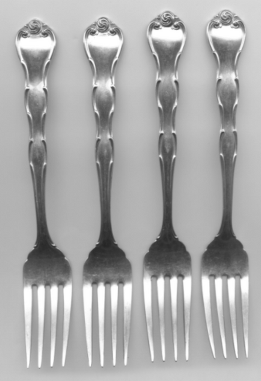 4 Rondo Salad Fork by Gorham Sterling Silver 6-5/8 Inch   - TvMovieCards.com
