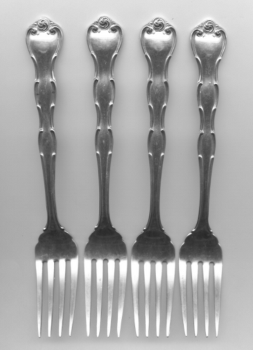 4 Rondo Salad Fork by Gorham Sterling Silver 6-3/4 Inch   - TvMovieCards.com