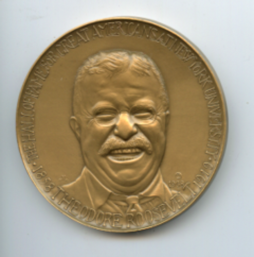 President THeodore Roosevelt Bronze Medal by Medallic Arts 1968  The Hall of Fam   - TvMovieCards.com