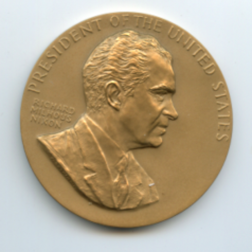 President Richard Milhous Nixon  United States Inauguration Bronze Medal  3 inch   - TvMovieCards.com