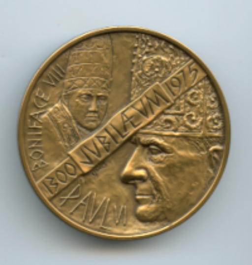 Pope Paul the VI Bronze Medal by Medallic Arts 1975 limited #1684/2500   - TvMovieCards.com