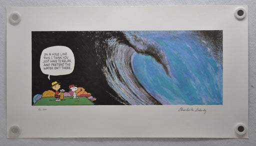 "Charles Schulz ""The Wave"" Signed LE Lithograph Snoopy Peanuts Comic Art 1994 COA   - TvMovieCards.com"