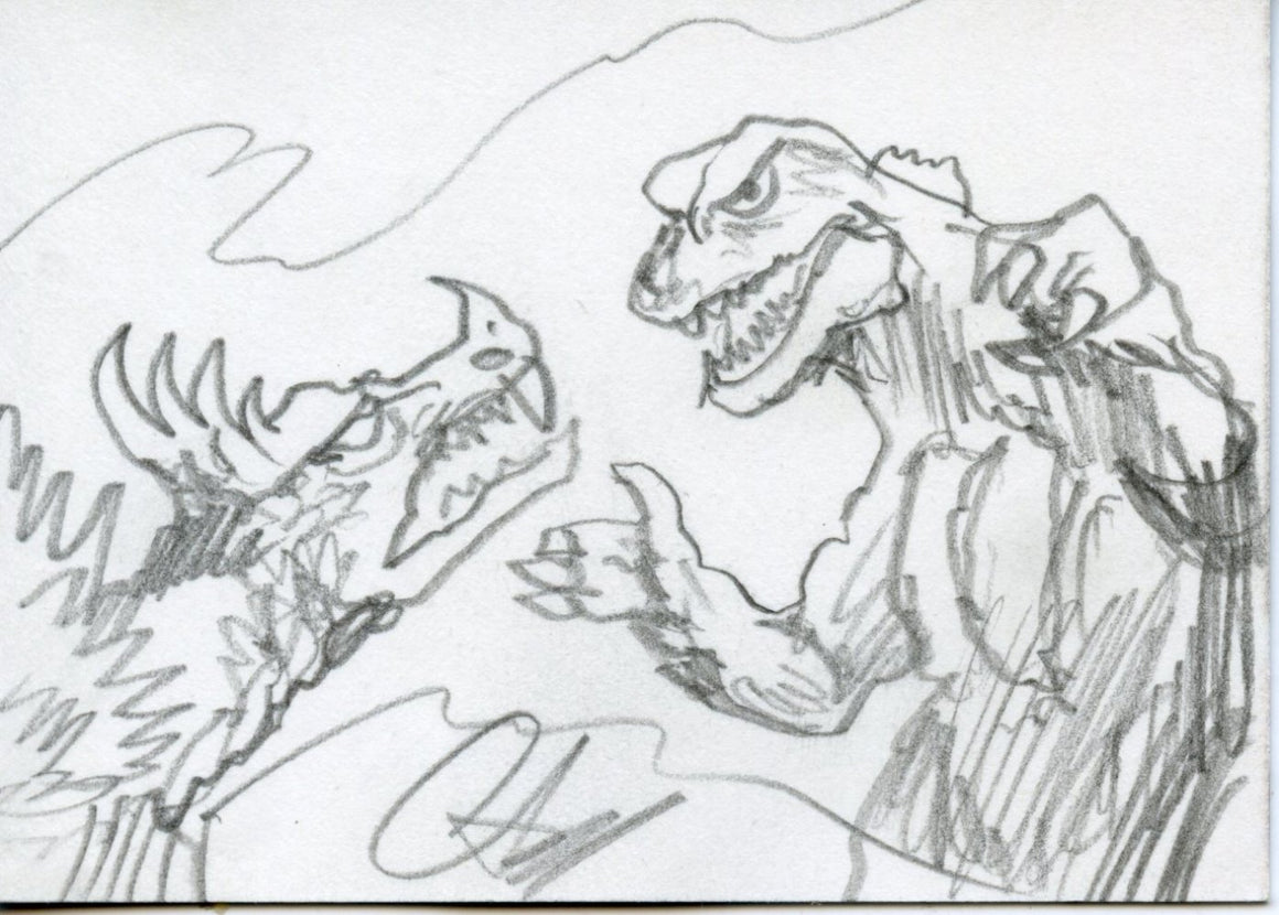 GODZILLA: KING OF THE MONSTERS Sketch Card by Christopher Scalf #2
