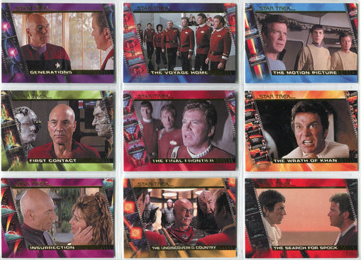Star Trek Complete Movies 2007 Character Logs Insert Chase Card Set C1-C9   - TvMovieCards.com