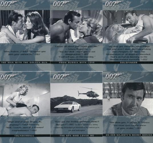 James Bond The Quotable James Bond Base Trading Card Set 100 Cards   - TvMovieCards.com
