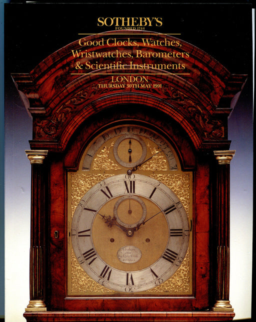 Sothebys Auction Catalog May 30 1991 Good Clocks, Watches Scientific Instruments   - TvMovieCards.com