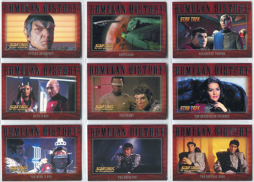 Star Trek Nemesis Movie 2002 Romulan History Insert Chase Card Set R1-R27   - TvMovieCards.com