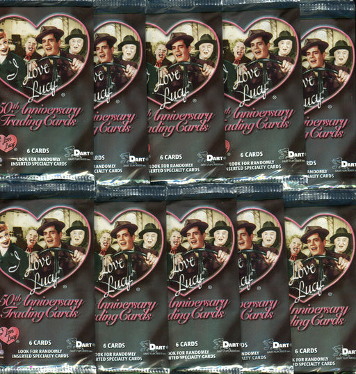 I Love Lucy 50th Anniversary Card Pack Lot 10 Sealed Packs   - TvMovieCards.com