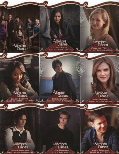 Vampire Diaries Season One Die Cut Chase Card Set 9 Cards   - TvMovieCards.com