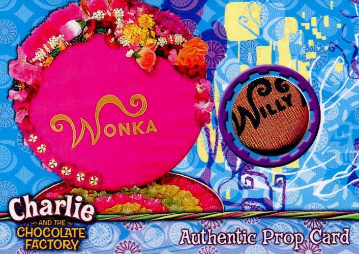 Charlie & Chocolate Factory Wonka Box of Chocolates Prop Card #142/390 Front