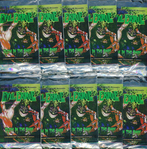 Evil Ernie Series Two Glow in the Dark Card Pack Lot 10 Sealed Packs   - TvMovieCards.com