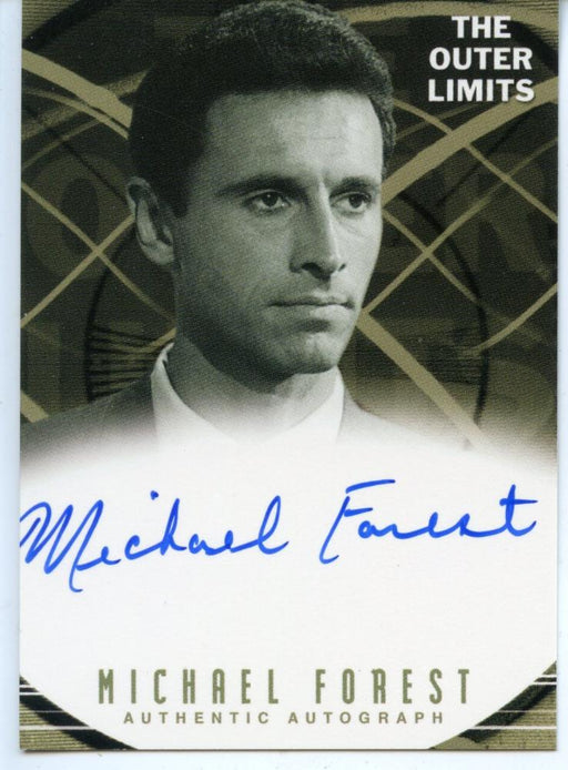 Outer Limits Premiere Autograph Card A9 Michael Forest Professor Stuart Peters   - TvMovieCards.com