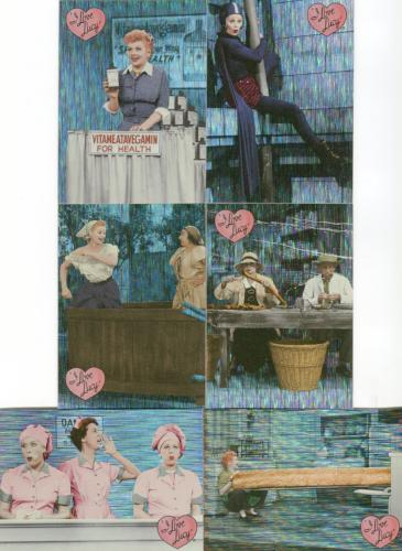 Lucy I Love Lucy 50th Anniversary Classic Moments Chase Card Set CM-1 thru CM-6   - TvMovieCards.com