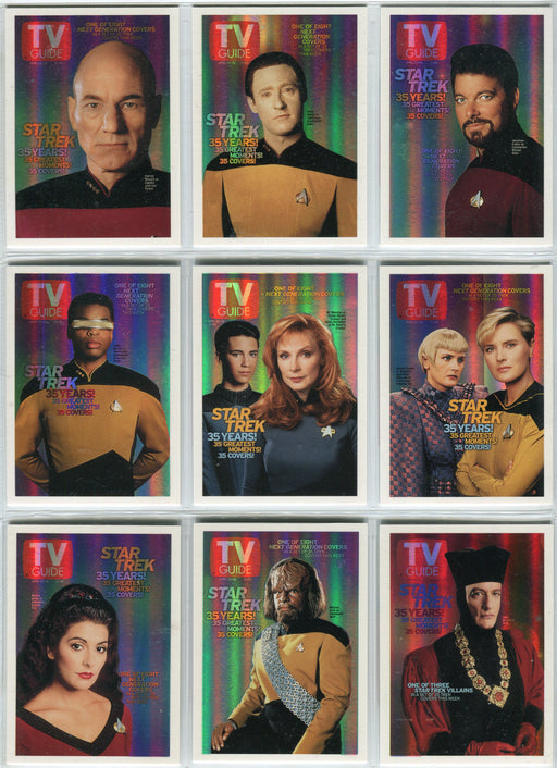 Star Trek Quotable TNG 35 Years! TV Guide Covers Chase Card Set TV1-TV9   - TvMovieCards.com