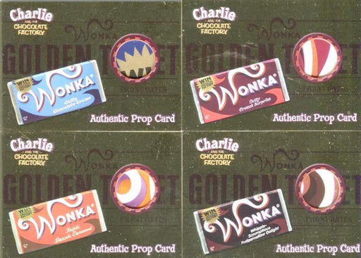 Charlie & Chocolate Factory Golden Ticket Candy Wrapper Comic Con Prop Card Set   - TvMovieCards.com