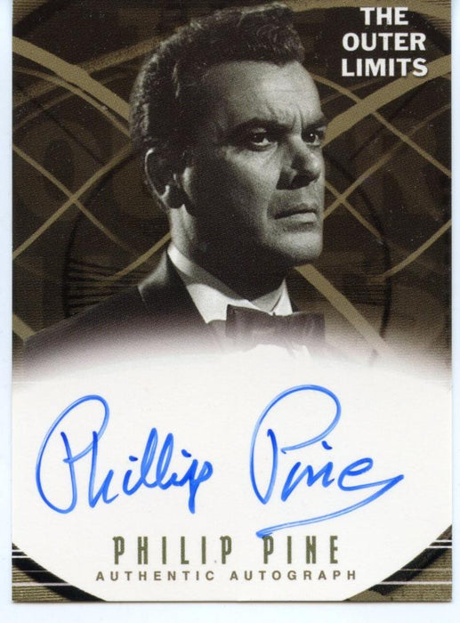 Outer Limits Premiere Autograph Card A13 Philip Pine as Theodore Pearson   - TvMovieCards.com