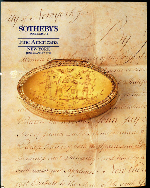Sothebys Auction Catalog June 26 & 27 1991 Fine Americana Furniture & Folk Art   - TvMovieCards.com