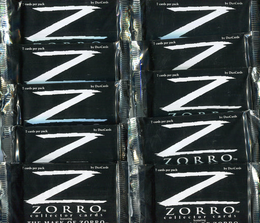 Zorro The Mask of Zorro Movie Card Pack Lot 10 Sealed Packs Duocards 1998   - TvMovieCards.com