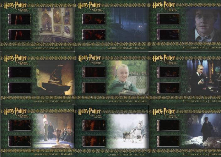 Harry Potter and the Chamber of Secrets Cinema Film Cel Chase Card Set 9 Cards Front