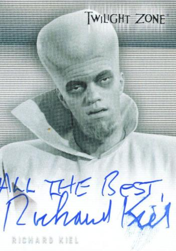 Twilight Zone Premiere Edition Richard Kiel Autograph Card A-3 (#2) Front3