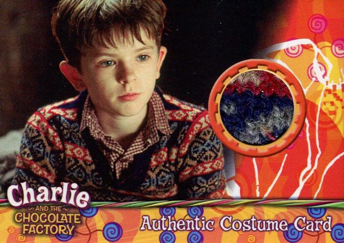 Charlie & Chocolate Factory Charlie Bucket Dealer Costume Card #129/170 Front