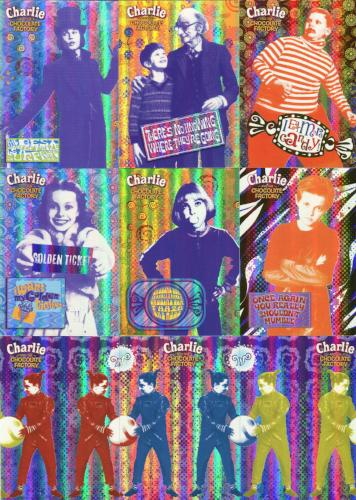Charlie & Chocolate Factory Holographic Foil Puzzle Chase Card Set 9 Cards Retail Front