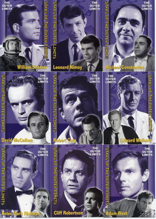 Outer Limits Premiere Edition Stars of the Outer Limits Chase Card Set S1 -S9   - TvMovieCards.com