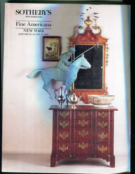 Sothebys Auction Catalog Jan 23 24 25 1992 Fine Americana Folk Art   - TvMovieCards.com