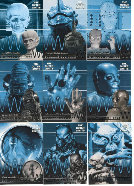 Outer Limits Premiere Edition Strange But True  Chase Card Set T1 -T9   - TvMovieCards.com