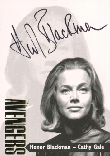 Avengers TV Series 3 Gold Additions Honor Blackman Cathy Gale Autograph Card AV3-2   - TvMovieCards.com