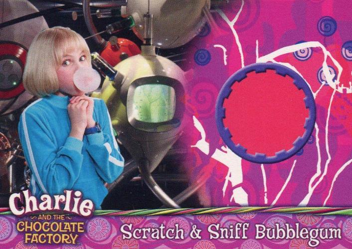 Charlie & Chocolate Factory Box Topper Scratch & Sniff Chase Card BT1 Front