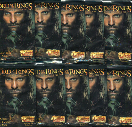 Lord of the Rings Return of the King Action Flipz Card Pack Lot 10 Sealed Packs   - TvMovieCards.com