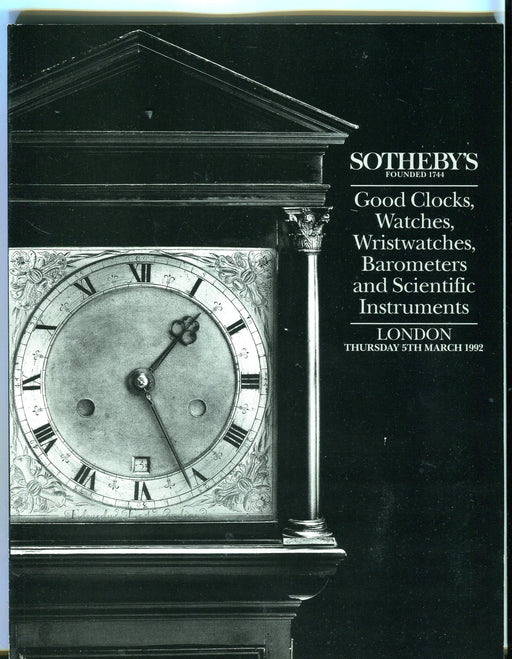 Sothebys Auction Catalog March 5 1992 Good Clocks Watches Scientific Instruments   - TvMovieCards.com