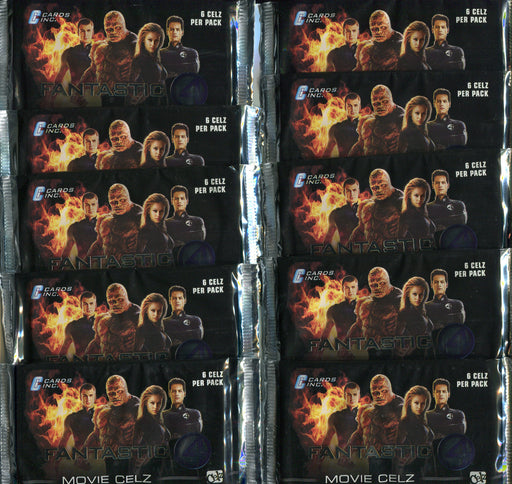 Fantastic 4 Marvel Movie Celz Card Pack Lot 10 Sealed Packs Cards, Inc 2005   - TvMovieCards.com