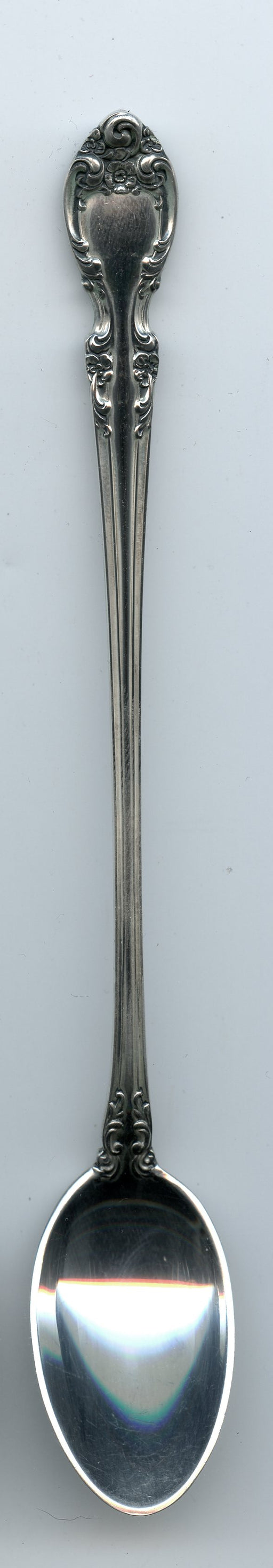 Melrose Iced Tea Spoon 7-5/8 inch by Gorham Sterling Silver   - TvMovieCards.com